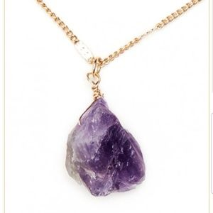 Jewelry - Small Amethyst Chunk Necklace